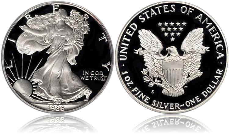 1986 Silver Eagles