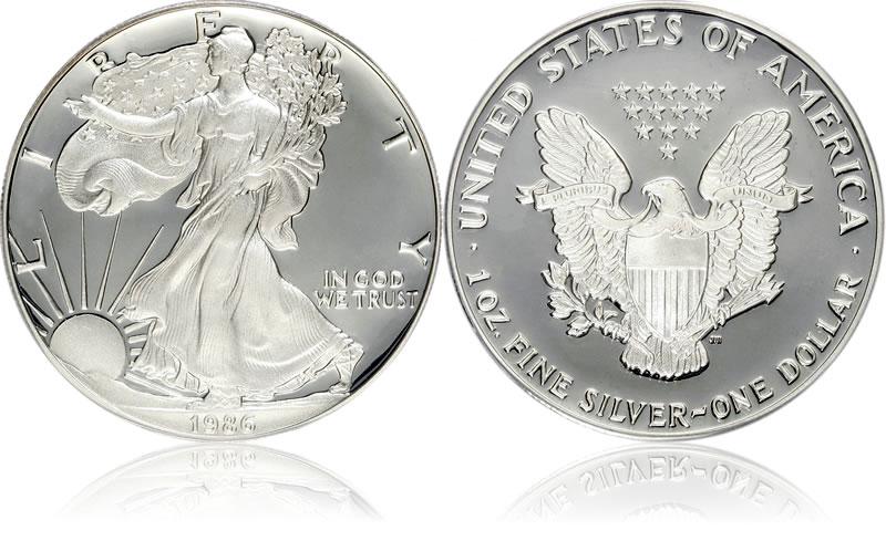 1986 Silver Eagles American Eagle Silver Dollar