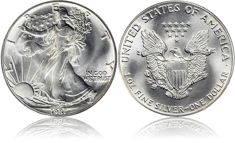 1987 American Silver Eagle Coin Value American Eagle