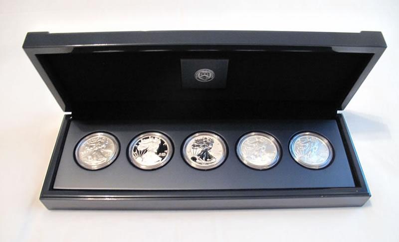 2011 25th silver eagle anniversary set