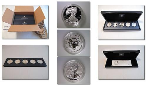25th Anniversary American Silver Eagle Set