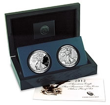 U.S. Mint image of the 2012 American Silver Eagle San Francisco Proof Set